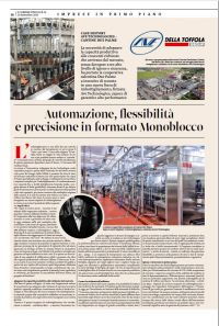 CASE HISTORY CANTINE DUE PALME - AVE TECHNOLOGIES: Automation, flexibility, and precision in a MONOBLOC format